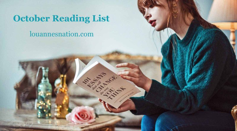 """October Reading List - """"personal development books"""" reading books that will change the way you think"""